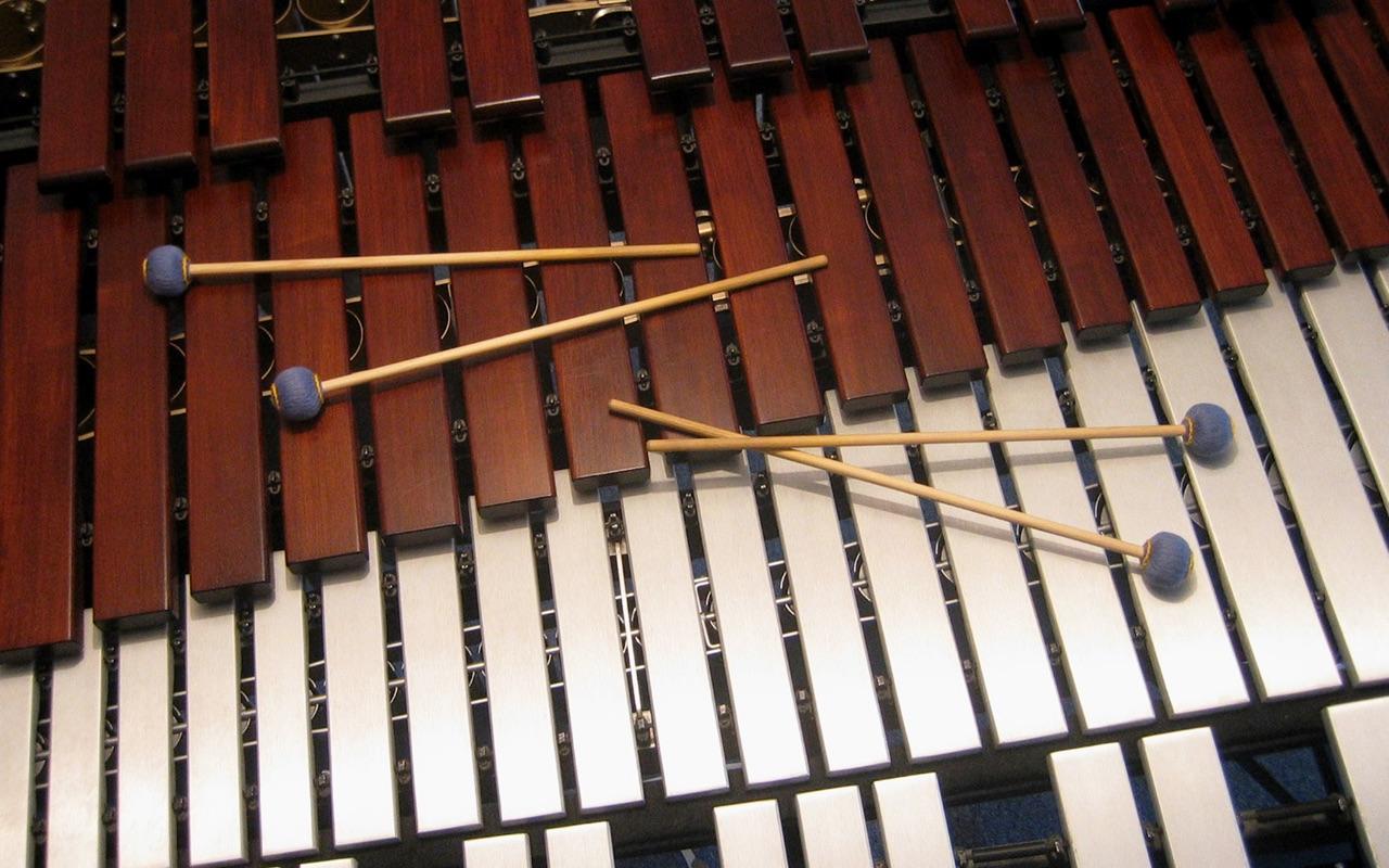 Marimba, Vibraphon und 4 Schlägel