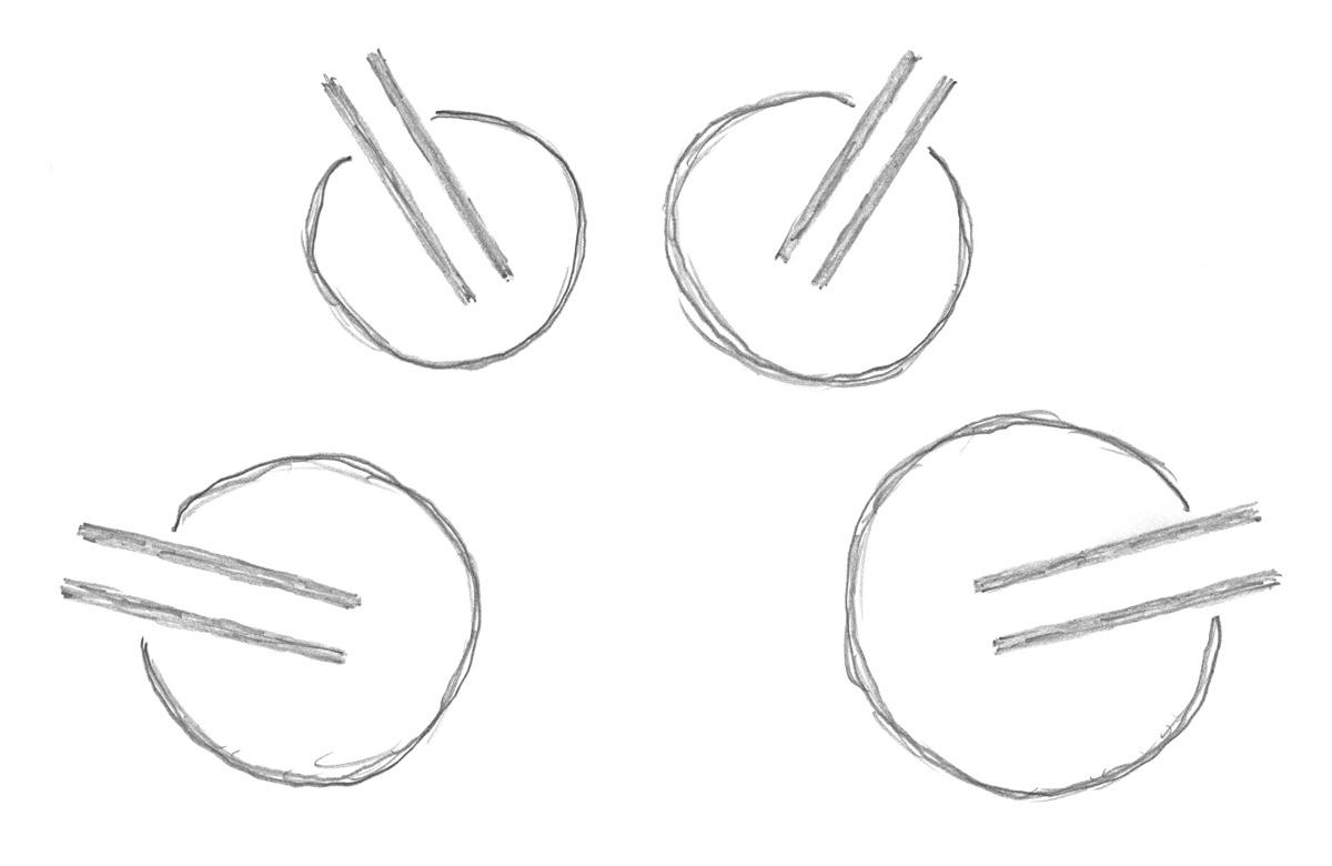 Zeichnung der vier Trommeln
