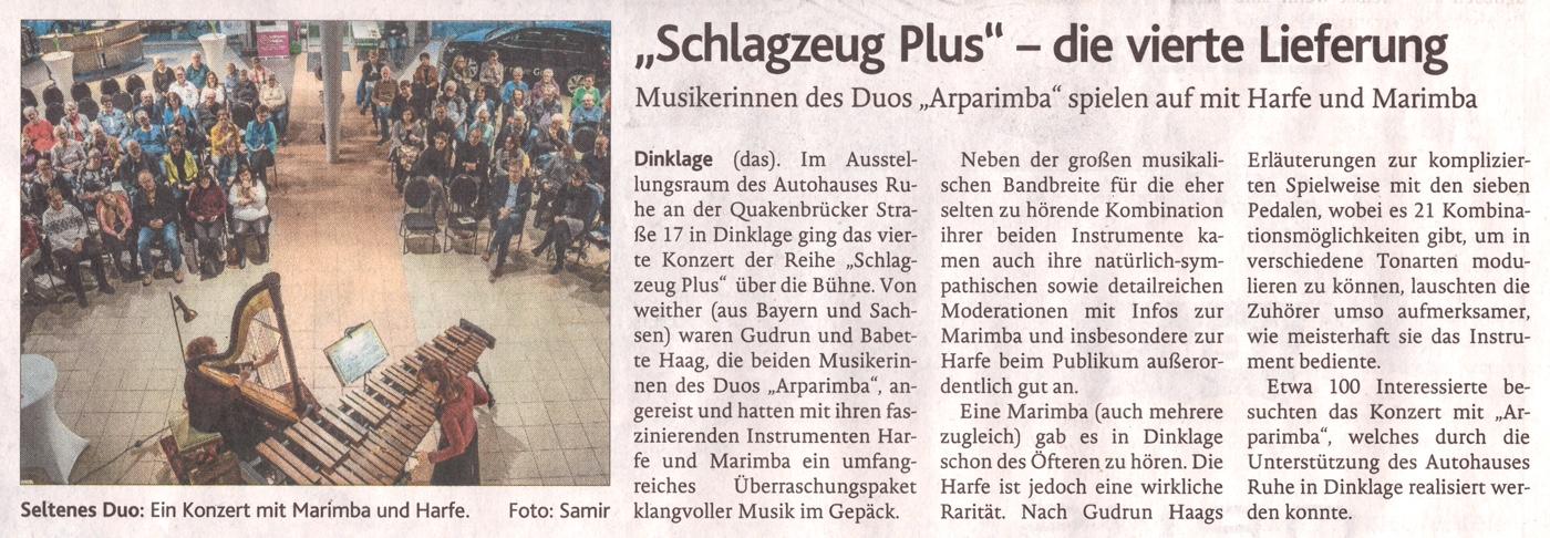Pressebericht · Oldenburgische Volkszeitung am 13. März 2020