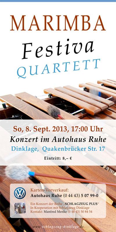 Flyer Marimba-Konzert