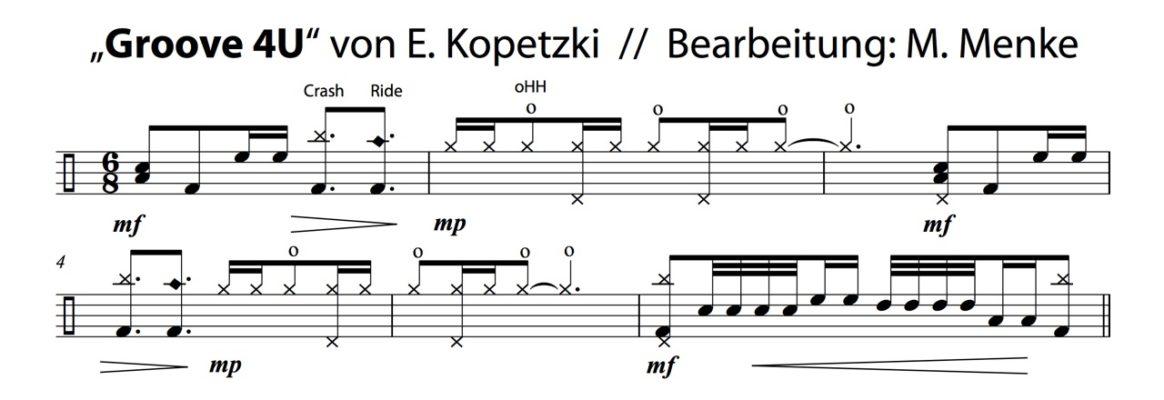 """Bearbeitung · """"Groove 4U"""" von E. Kopetzki"""
